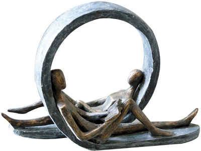 Casablanca by Gilde Dekofigur »Skulptur Auszeit« (1 Stück), Dekoobjekt, Höhe 22 cm, mit Spruchanhänger, Wohnzimmer