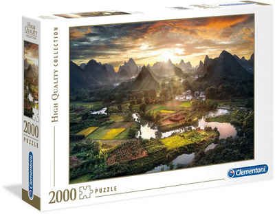 Clementoni® Puzzle »High Quality Collection - Tal in China«, 2000 Puzzleteile, Made in Europe