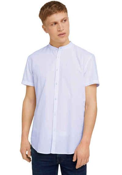 TOM TAILOR Denim Kurzarmhemd mit einer Knopfleiste