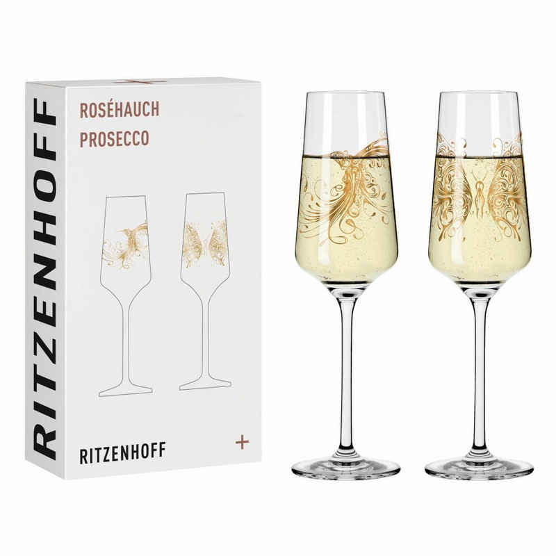 Ritzenhoff Sektglas »Roséhauch Prosecco 2er-Set 002«, Kristallglas, Made in Germany