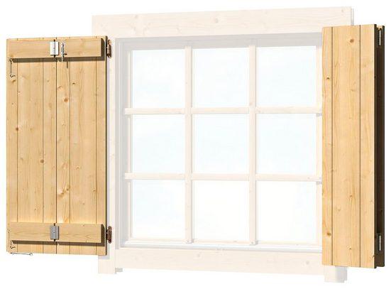 Nordic Holz Fensterladen, für Gartenhaus »Colorado«