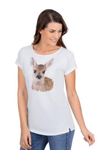 Trigema T-Shirt mit Motiv und Glitzersteinen