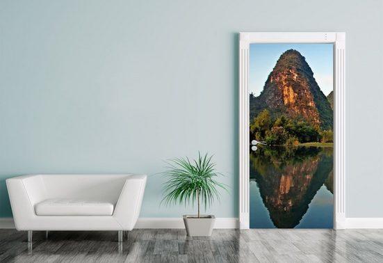 Bilderdepot24 Türtapete, Türaufkleber Beauty of Yangshuo Karst in Guilin, China, selbstklebendes Vinyl
