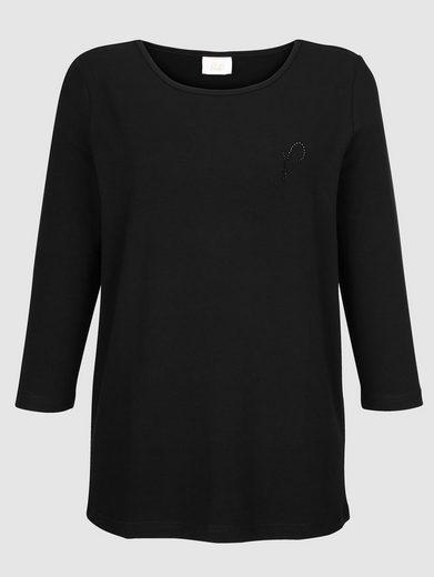 Paola Shirt mit Strassstein Logo