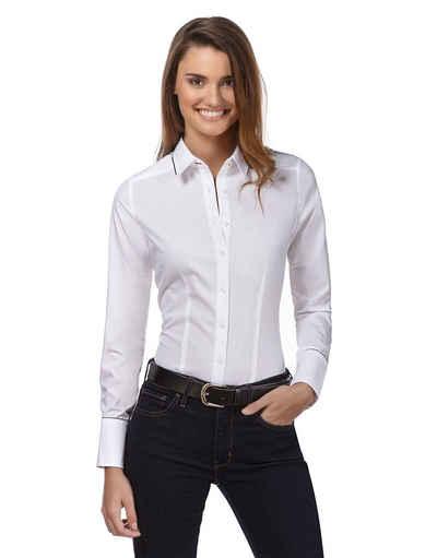 Vincenzo Boretti Business-Bluse in bügelleichter Qualität