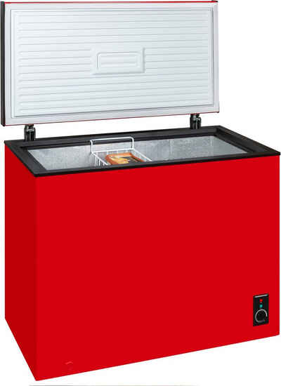 exquisit Gefriertruhe GT200-051F rot, 82,3 cm breit, 199 l