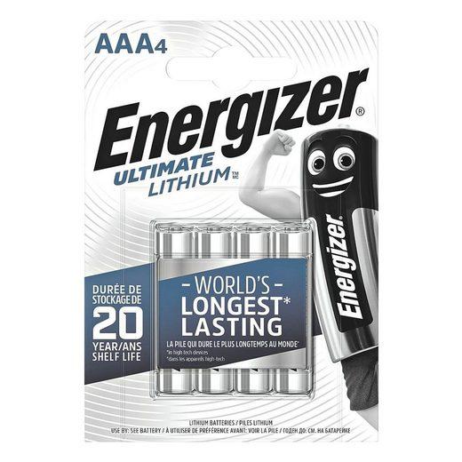 Energizer »Ultimate Lithium« Batterie, (4 St), AAA, mit langer Lebensdauer