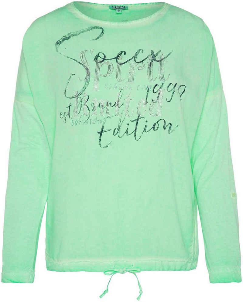 SOCCX Shirtbluse mit Bindedetail
