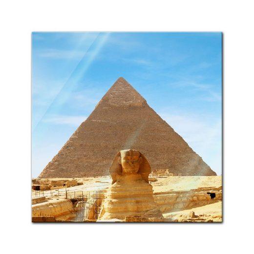 Bilderdepot24 Glasbild, Glasbild - Ägypten Sphinx