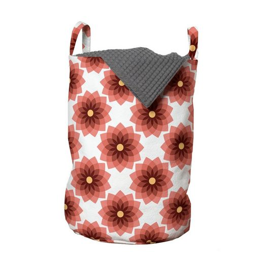 Abakuhaus Wäschesack »Wäschekorb mit Griffen Kordelzugverschluss für Waschsalons«, Blumen Kreis und Teardrop-Form