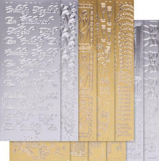 VBS Sticker »Ganzjahr«, 10 Stück, gold und silber