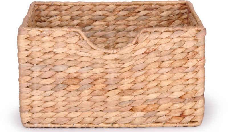 Franz Müller Flechtwaren Dekokorb (1 Stück), aus Wasserhyazinthe, Höhe ca. 17 cm
