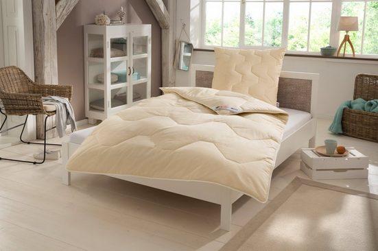 Naturfaserbettdecke + Kopfkissen, »Baumwolle 60 °C«, my home, warm, Material Füllung: Baumwolle, Kunstfaser, natürlich gut schlafen in reiner Baumwollqualität