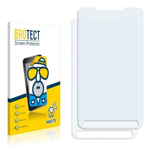 BROTECT Schutzfolie »für HTC HD2«, (2 Stück), Folie Schutzfolie matt entspiegelt