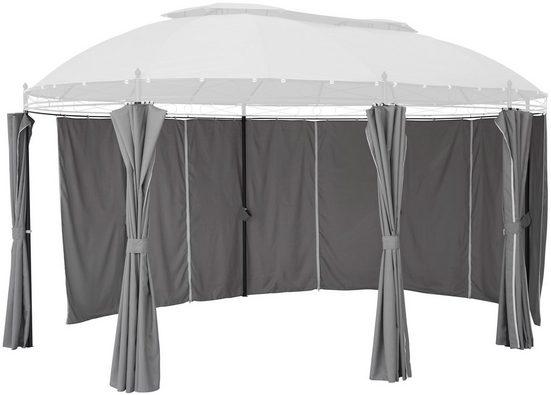 KONIFERA Seitenteile für Pavillon »Oval«, grau, 8 Stk.