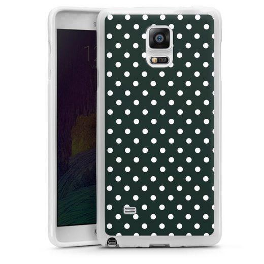DeinDesign Handyhülle »Polka Dots - schwarz und weiß« Samsung Galaxy Note 4, Hülle Punkte Retro Polka Dots