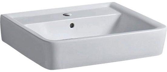 GEBERIT Waschbecken »Renova Nr. 1 Plan«, mit Hahnloch, mit Überlauf, weiß