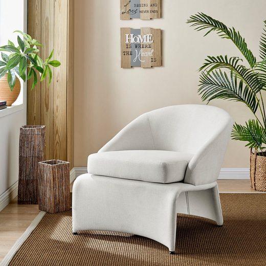 Home affaire Loungesessel »Isla«, mit einem schönen pflegeleichten Leinenstoff Bezug, in verschiedenen Farbvarianten, Sitzhöhe 46 cm
