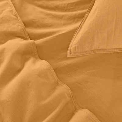 Bettwäsche »Baumwolle Stone Washed«, wometo, Used-Effekt mit Stehsaum