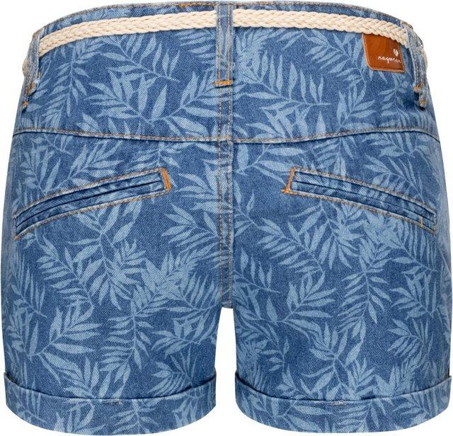 Hosen - Ragwear Chinoshorts »Heaven Denim« stylische Jeans Hotpants mit hochwertigem Flechtgürtel › blau  - Onlineshop OTTO