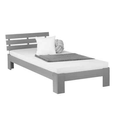 Homestyle4u Holzbett, Doppelbett mit Lattenrost und Kopfteil, verschiedene Farben und Größen