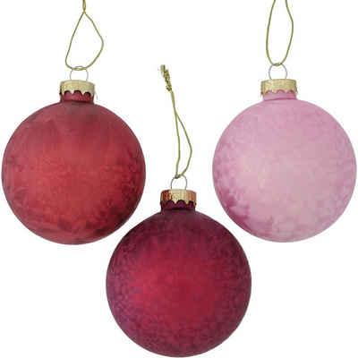 """BOLTZE Weihnachtsbaumkugel »6-tlg. Weihnachtskugel Set """"Ice"""", Glas, Ø8 cm«"""