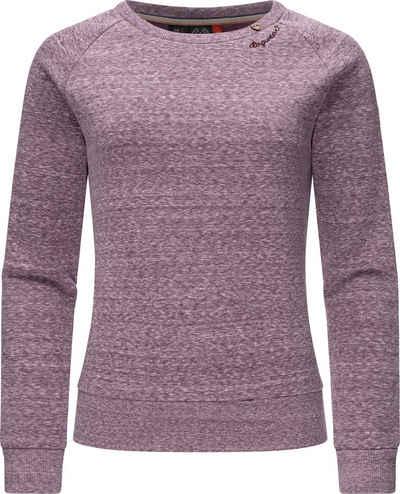 Ragwear Sweatshirt »Johanka Intl.« Damen Pullover mit kuschelig weichem Innenfutter