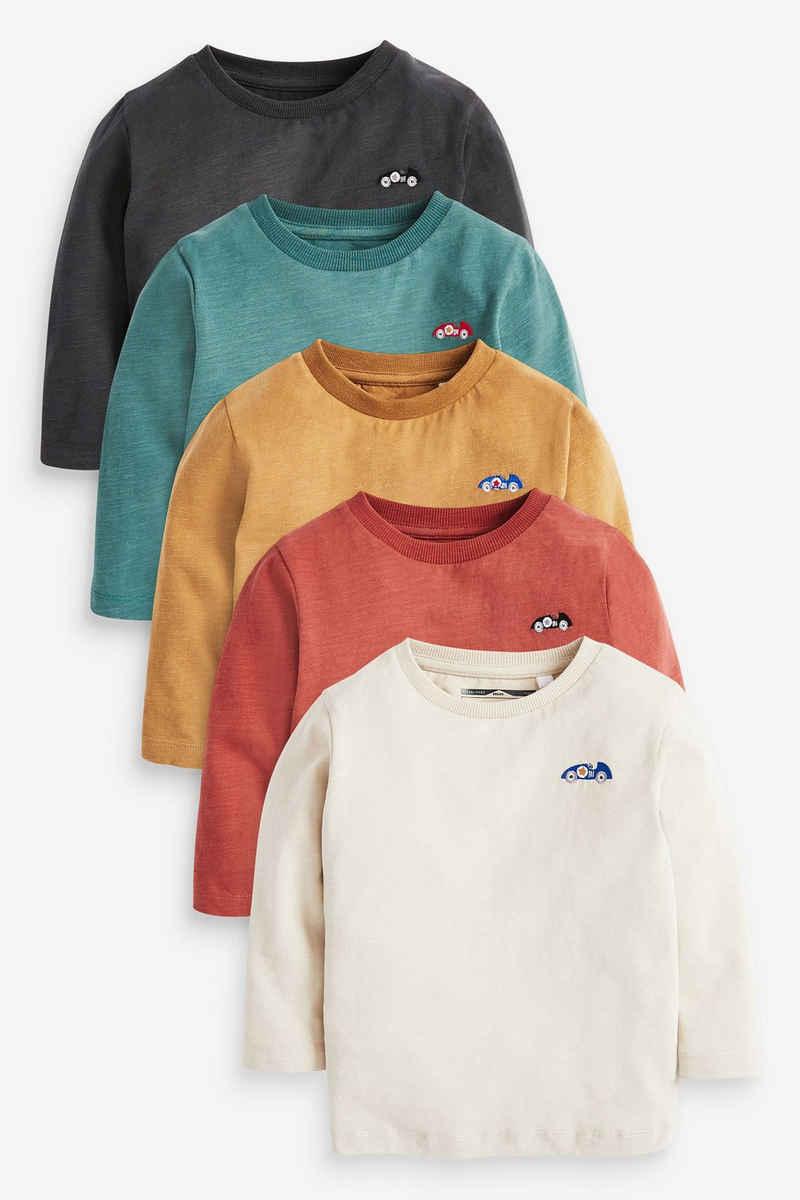 Next Langarmshirt »Langärmelige Shirts, 5er-Pack« (5-tlg)