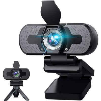 IVSO »Webcam mit Mikrofon, Plug & Play 1080P Webcam mit Sichtschutzstativ,110 Grad Weitwinkel 30fps Webcam mit Mikrofon für Videokonferenzen, « Webcam (1920 X 1080P, Calling/Gaming/Skype/Zoom in Laptop)