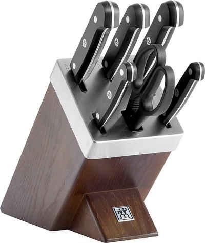 Zwilling Messerblock »Gourmet Selbstschärfend 7-tlg, dunkelbraun«, selbstschärfend