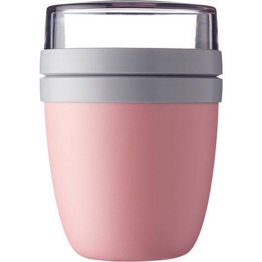 Mepal Brotschale »Lunchpot Ellipse nordic pink, 500 ml & 200 ml«