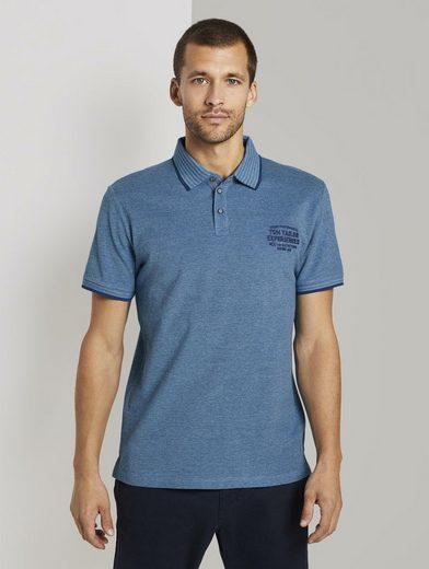 TOM TAILOR Poloshirt »Zweifarbiges Poloshirt mit kleiner Stickerei«