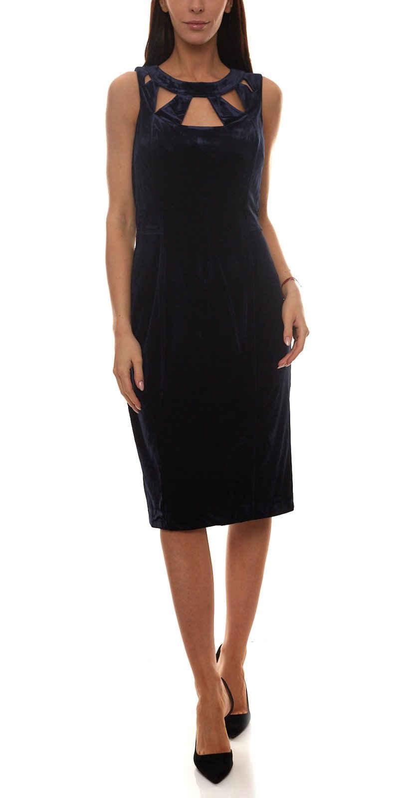 Siena Studio Etuikleid »SIENA STUDIO Etui-Kleid gemütliches Damen Abend-Kleid Samt-Kleid mit Cut-Outs Nachtblau«