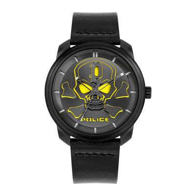 Police Quarzuhr »Police PL15714JSB.02 Herren-Uhr Bleder Analog Quarz mit Leder-Armband«