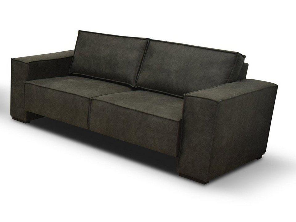KAWOLA Sofa Stoff verschiedene Farben und Größen »LINO ...