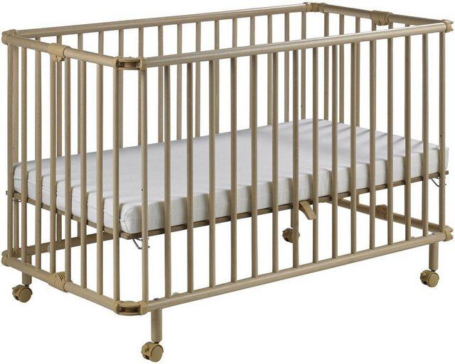 Babybetten - Geuther Babybett »Mayla, natur«, platzsparend zusammenklappbar Made in Europe  - Onlineshop OTTO