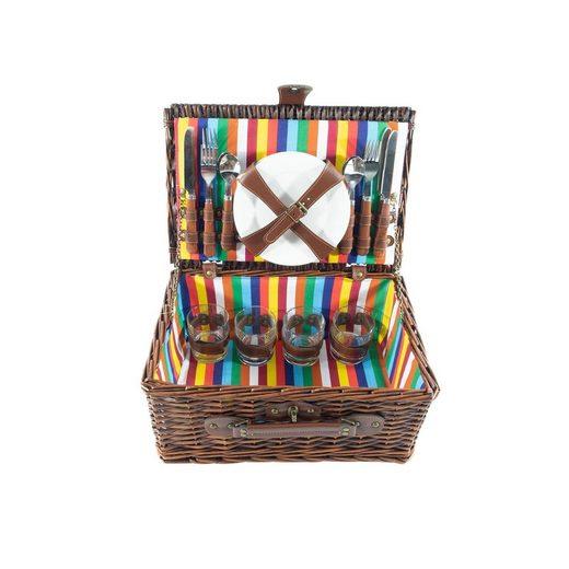 Neuetischkultur Picknickkorb »Picknickkorb für 4 Personen« (21 Stück), Picknickkorb