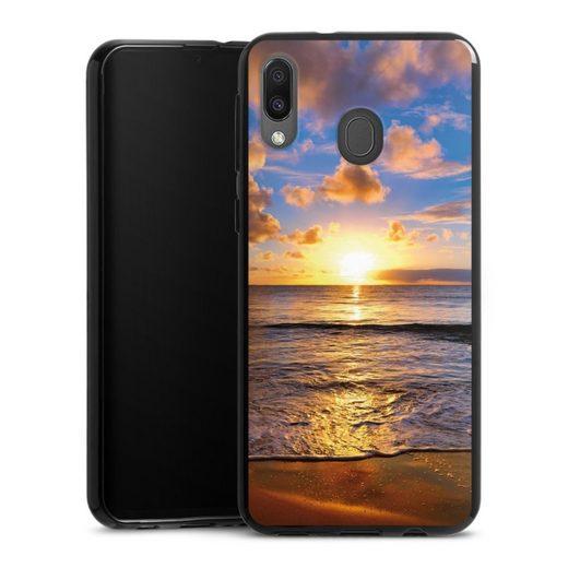 DeinDesign Handyhülle »Strand« Samsung Galaxy M20, Hülle Meer Sonnenuntergang Urlaub