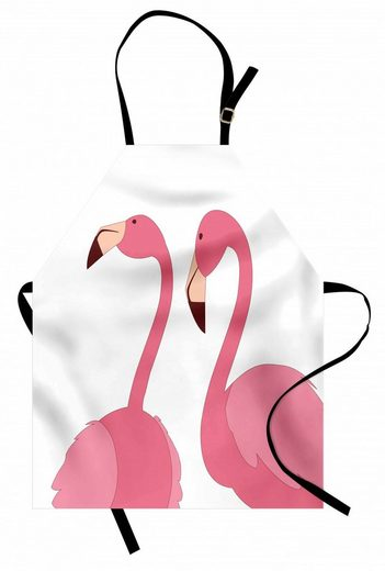 Abakuhaus Kochschürze »Höhenverstellbar Klare Farben ohne verblassen«, Flamingo Exotische rosa Vögel Tiere