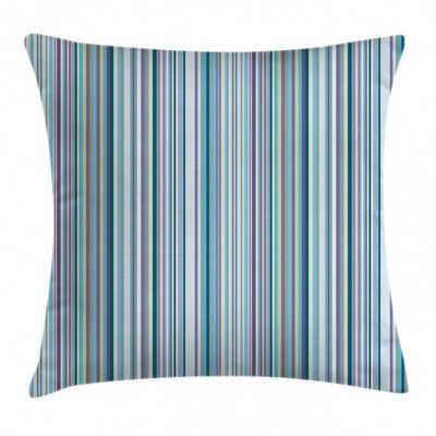 Abakuhaus Kissenbezug »Waschbar mit Reißverschluss Kissenhülle mit Farbfesten Klaren Farben Beidseitiger Druck«, Streifen Blau, Lila, Geometric