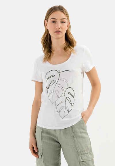 camel active T-Shirt »T-Shirt mit platziertem Print aus Organic Cotton«
