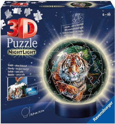 Ravensburger Puzzleball »Nachtlicht - Raubkatzen«, 72 Puzzleteile, FSC® - schützt Wald - weltweit; Made in Europe