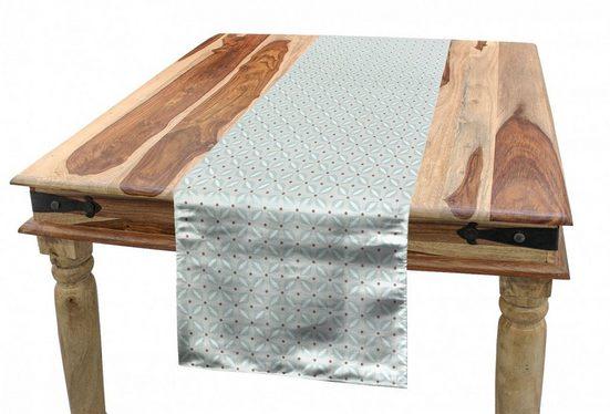 Abakuhaus Tischläufer »Esszimmer Küche Rechteckiger Dekorativer Tischläufer«, Brown und Blau Retro Floral