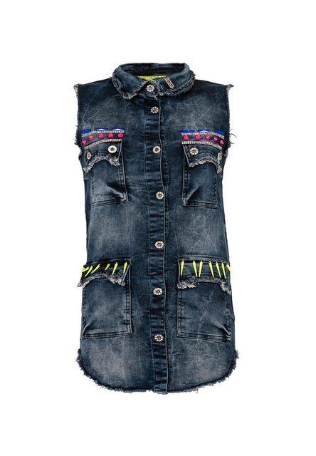 Cipo & Baxx Jeansweste »Destroyed« mit Extravagante Applikationen | Bekleidung > Westen > Jeanswesten | Cipo & Baxx
