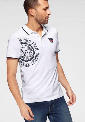 TOM TAILOR Polo Team Poloshirt mit Logofrontprint