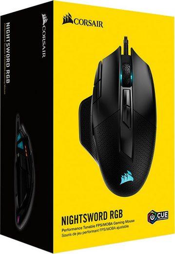 Corsair »NIGHTSWORD RGB PerformanceTunable Gaming Mouse« Gaming-Maus