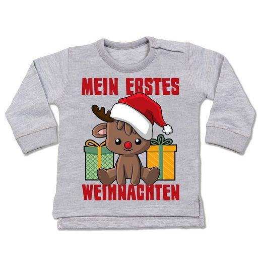 Shirtracer Sweatshirt »Mein erstes Weihnachten mit Rentier - Baby Pullover«