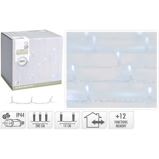 Koopmann Lichterkette »LED Lichtervorhang mit 12 Funktionen, 240 LED's,«