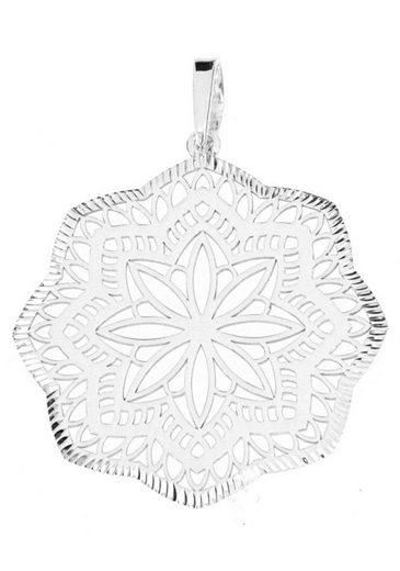 Firetti Schmuckset »Blumenornament mit geriffeltem Rand, diamantiert, poliert« (Set, 3-tlg)