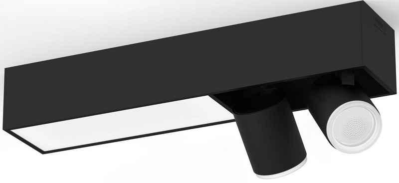 Philips Hue LED Deckenspot »Philips Hue White & Col. Amb. Centris Spot 2 flg. schwarz 1540lm«, Funktionelle Beleuchtung für den ganzen Tag, Für jeden Moment die passende Stimmung, Individuelle Lampeneinstellungen mit der Hue App, Einfache Montage, Jede Lampe einzeln anpassbar